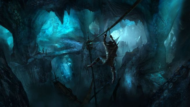 An ice cavern in Chronicles of Elyria