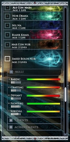 Chronicles of Elyria Soul Selection Screen UI