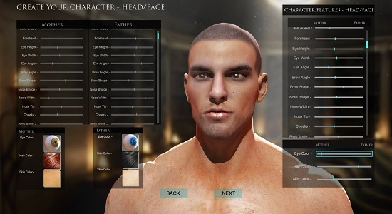 Character customisation from Chronicles of Elyria