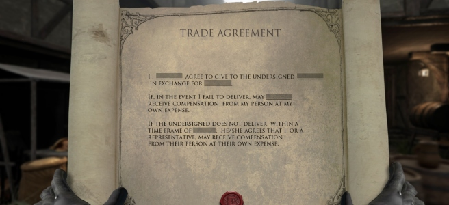 Contract being viewed in Chronicles of Elyria.
