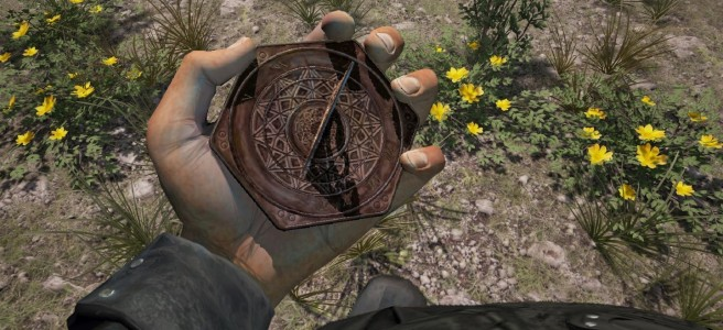 A character holding a sundial in Chronicles of Elyria.