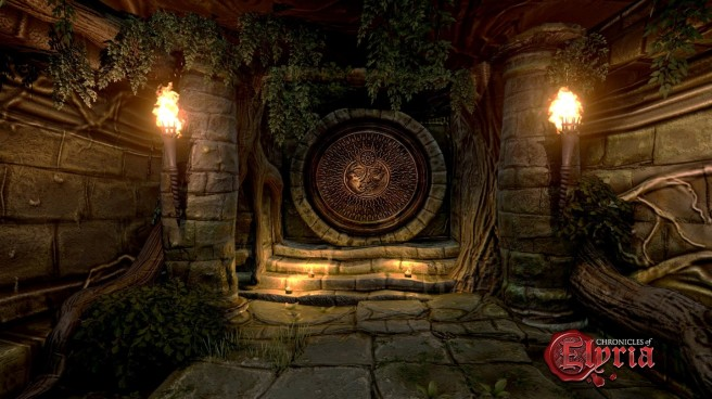 A vault in a dungeon in Chronicles of Elyria.