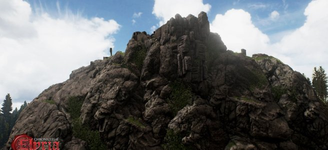 A rocky outcrop in Chronciles of Elyria.