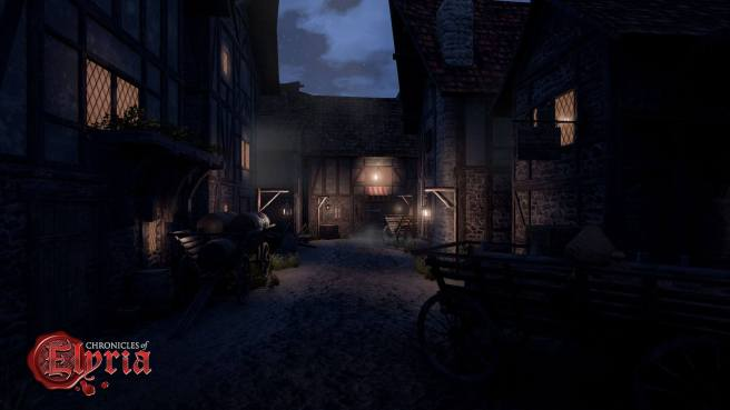 A dark street in Chronciles of Elyria.