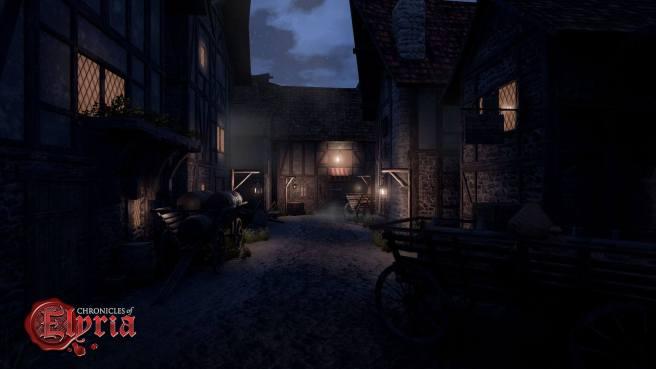 A dark street in Chronciles of Elyria.
