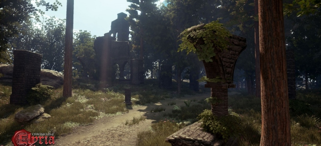 Ruins by the road from Chronicles of Elyria.
